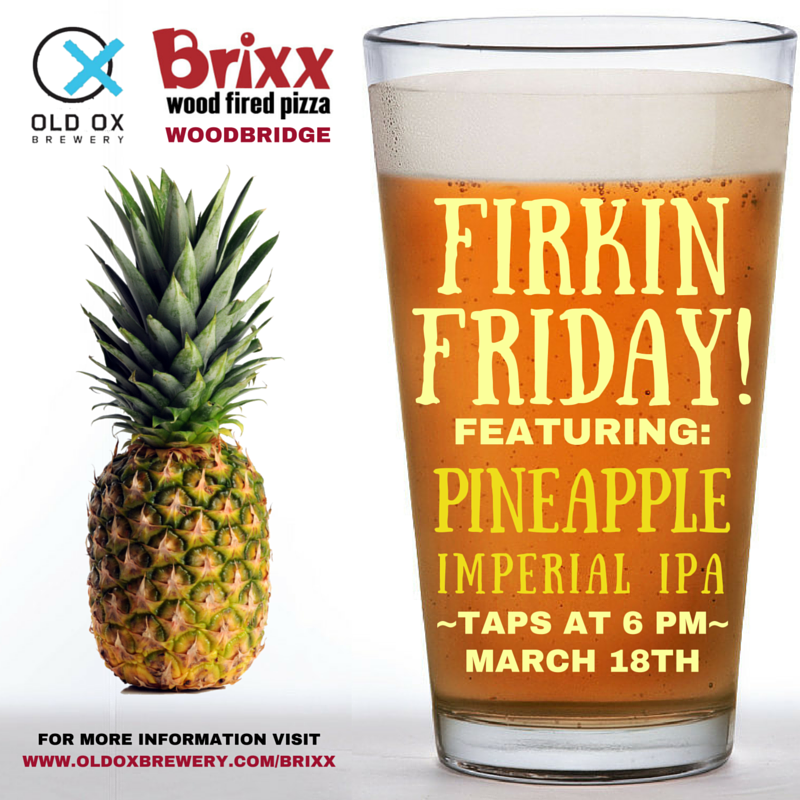 Brixx Firkin Friday Old Ox Brewery