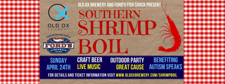 Old Ox Brewery and Ford's Fish Shack Southern Shrimp Boil