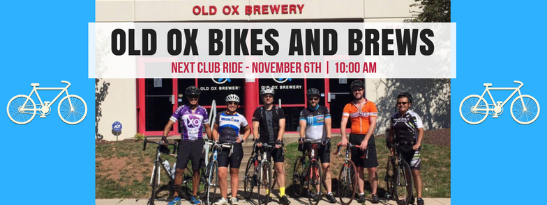 Old Ox Brewery Bikes and Brews Meet Up